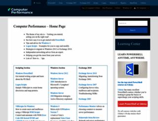 computerperformance.co.uk screenshot