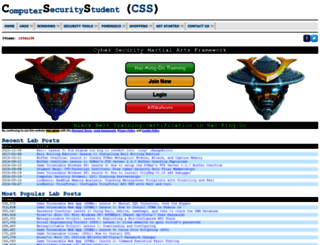 computersecuritystudent.com screenshot