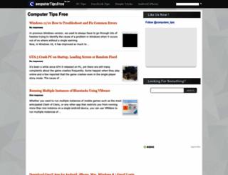 computertipsfree.com screenshot