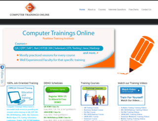 computertrainingsonline.com screenshot