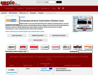 computeruniverse-gutscheine.amexio.de screenshot