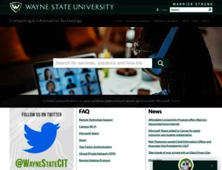 computing.wayne.edu screenshot