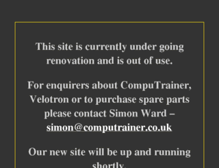 computrainer.co.uk screenshot