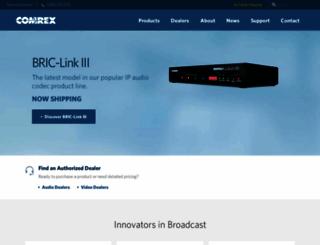 comrex.com screenshot
