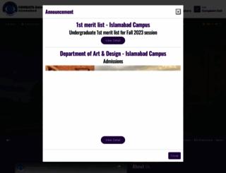 comsats.edu.pk screenshot
