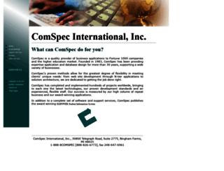 comspec-intnl.com screenshot