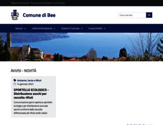 comune.bee.vb.it screenshot