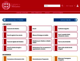 comune.milano.it screenshot