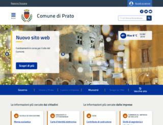 comune.prato.it screenshot