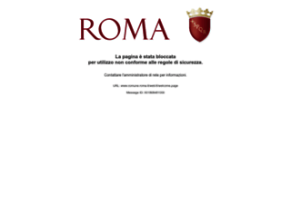 comune.roma.it screenshot