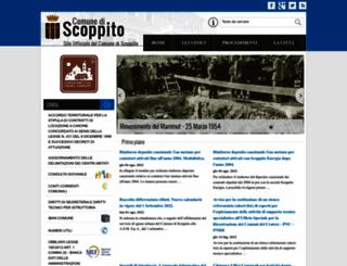 comune.scoppito.aq.it screenshot