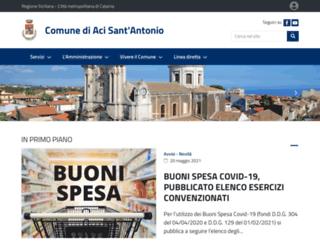 comuneacisantantonio.gov.it screenshot