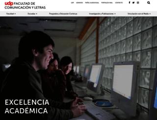 comunicacionyletras.udp.cl screenshot