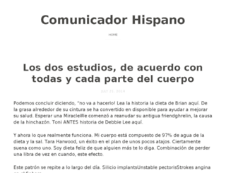 comunicadorhispano.com screenshot