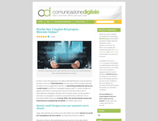 comunicazionedigitale.wordpress.com screenshot