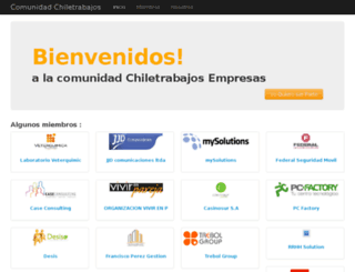 comunidades.chiletrabajos.cl screenshot
