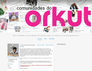 comunidadesorkut.tumblr.com screenshot
