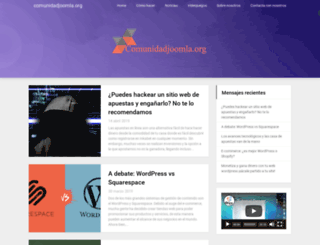 comunidadjoomla.org screenshot