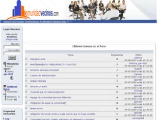comunidadvecinos.com screenshot