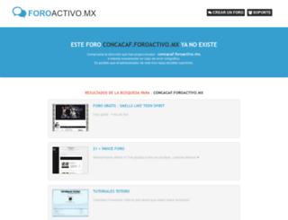 concacaf.foroactivo.mx screenshot