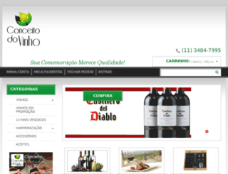 conceitodovinho.com.br screenshot