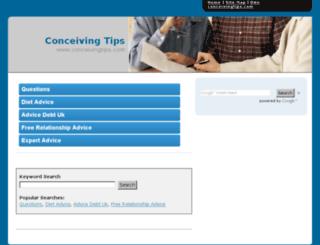 conceivingtips.com screenshot