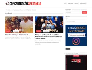 concentracaosertaneja.com.br screenshot