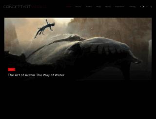 conceptartworld.com screenshot