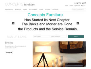 conceptsfurniture.com screenshot