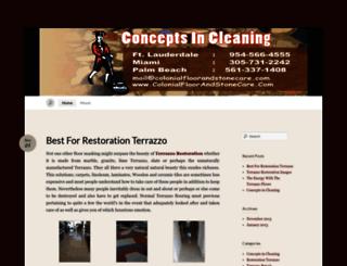 conceptsincleaning.wordpress.com screenshot