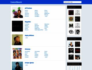 concertboom.com screenshot