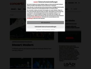 concerti.de screenshot