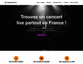 concertlive.fr screenshot
