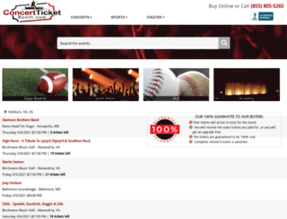 concertticketbooth.com screenshot