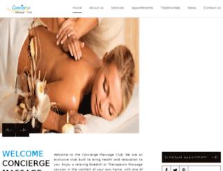 conciergemassageclub.com screenshot