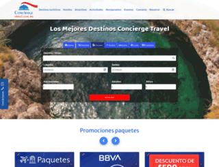 conciergetravel.com.mx screenshot