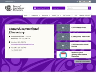 concordes.seattleschools.org screenshot