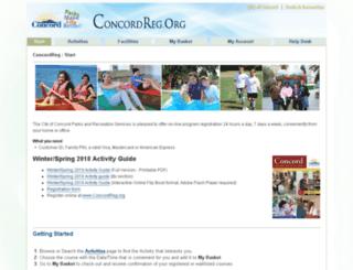 concordreg.org screenshot