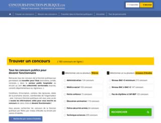 concours-fonction-publique.com screenshot