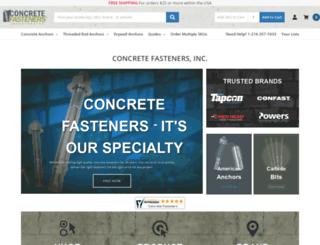 concretefasteners.com screenshot