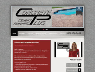 concretepluscementfinishing.com screenshot