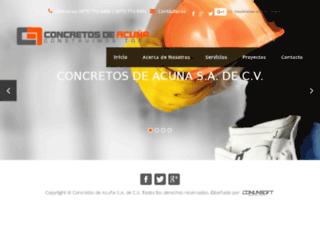 concretosdeacuna.com screenshot