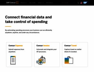 concur.com screenshot