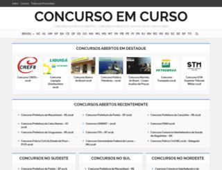 concursoemcurso.com.br screenshot