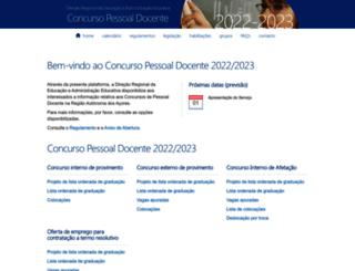 concursopessoaldocente.azores.gov.pt screenshot