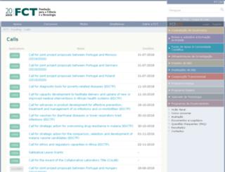 concursos.fct.pt screenshot