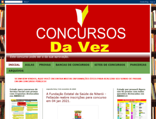 concursosdavez.blogspot.com.br screenshot