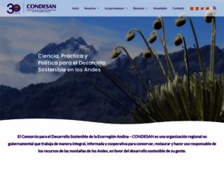 condesan.org screenshot