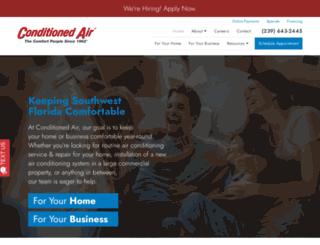 conditionedair.com screenshot