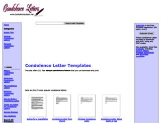 condolenceletters.net screenshot